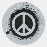 Peace drip classic round sticker