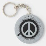 Peace drip keychains