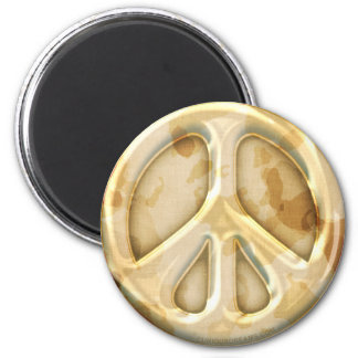 Peace Earth Camouflage Magnet