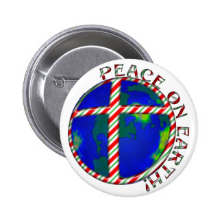 PEACE  EARTH  CHRIST JESUS CANDY CANE CHRISTMAS PINS
