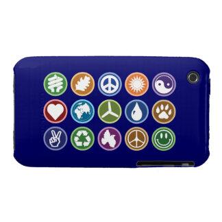 Peace / Eco Symbols Case-Mate iPhone 3 Case