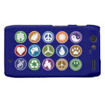 Peace & Eco Symbols Droid RAZR Cover