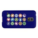 Peace & Eco Symbols Galaxy S5 Covers