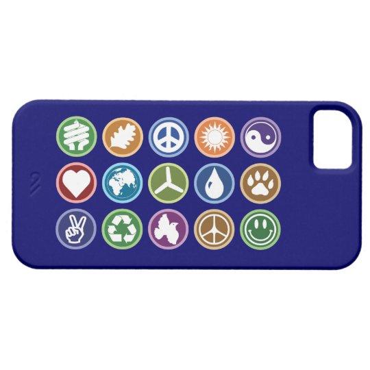 Peace & Eco Symbols iPhone SE/5/5s Case