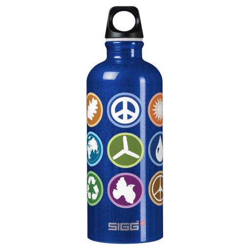 Peace & Eco Symbols SIGG Traveler 0.6L Water Bottle