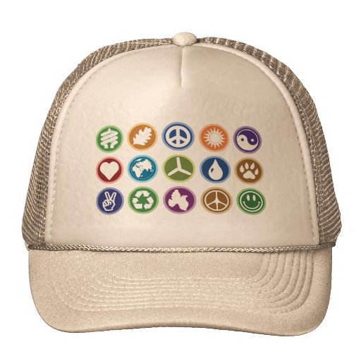 Peace / Eco Symbols Trucker Hat