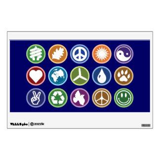 Peace & Eco Symbols Wall Sticker