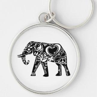 Peace Elephant Keychain