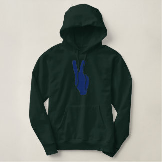 Peace Embroidered Hoody