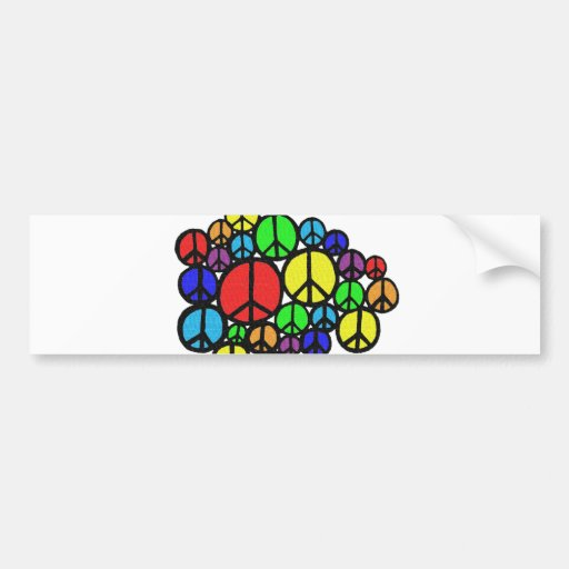 Peace Everywhere! Bumper Sticker