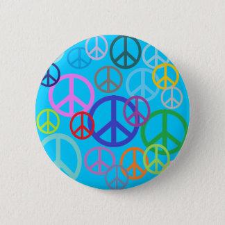 Peace Everywhere Pinback Button