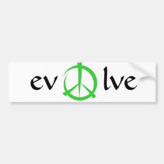 peace, evolve car bumper sticker