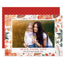 Peace Faith Love Seasonal Greeting Family Photo Invitation