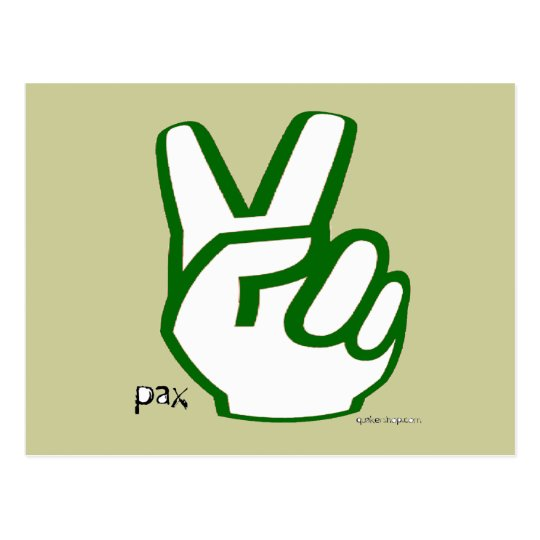 Peace Fingers Postcard