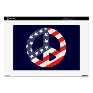 "Peace Flag -Diag 15"" Laptop Skin"