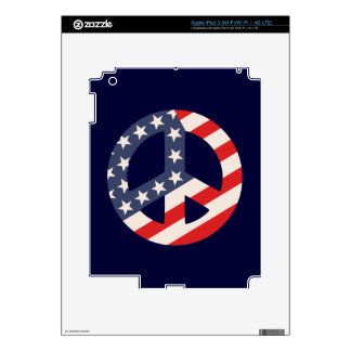 Peace Flag -Diag iPad 3 Skin