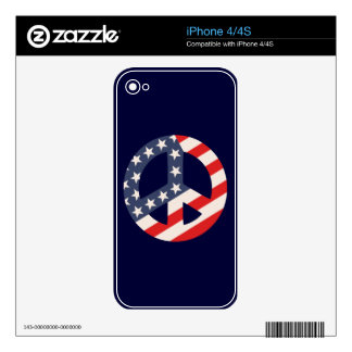 Peace Flag -Diag iPhone 4S Decals