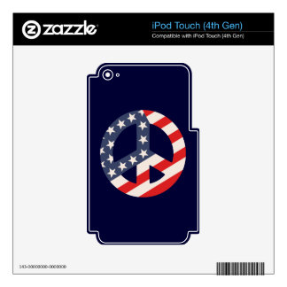 Peace Flag -Diag iPod Touch 4G Decals