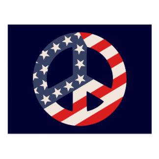 Peace Flag -Diag Postcard