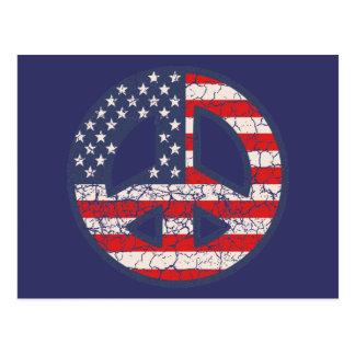 Peace-Flag-dist Postcard