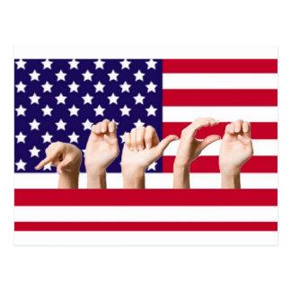 Peace Flag in ASL Postcard