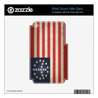 Peace Flag iPod Touch 4G Decals