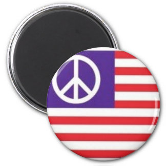 PEACE FLAG MAGNET