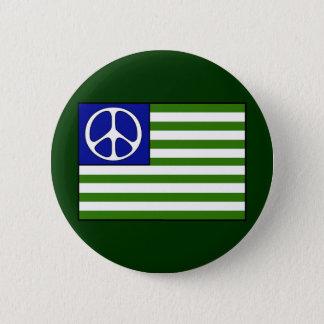 Peace Flag Pinback Button