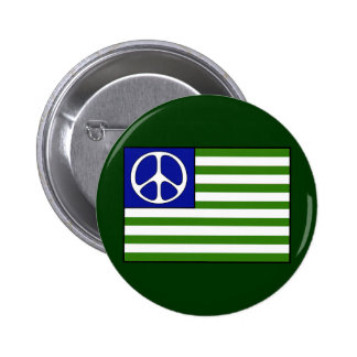 Peace Flag Pinback Button