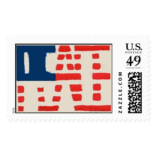 Peace Flag, S Evans Postage Stamp