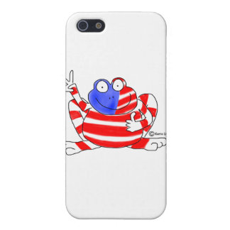 Peace Flag USA Frog 4th of July Patriotic Cute Cases For iPhone 5