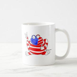 Peace Flag USA Frog 4th of July Patriotic Cute Coffee Mug