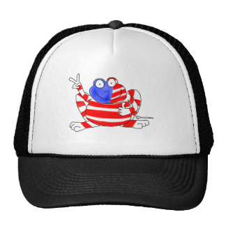 Peace Flag USA Frog 4th of July Patriotic Cute Trucker Hat