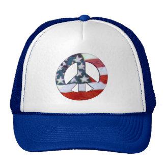 Peace Flag Warped Trucker Hat