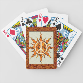 Peace Flame Spiral Bicycle Playing Cards