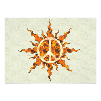 Peace Flame Spiral Card