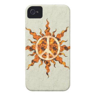 Peace Flame Spiral iPhone 4 Case-Mate Case