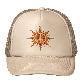 Peace Flame Spiral Mesh Hats