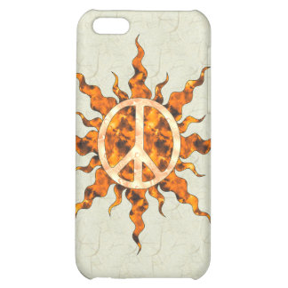 Peace Flame Spiral iPhone 5C Cases