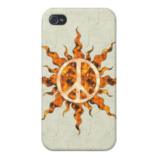 Peace Flame Spiral iPhone 4/4S Cover