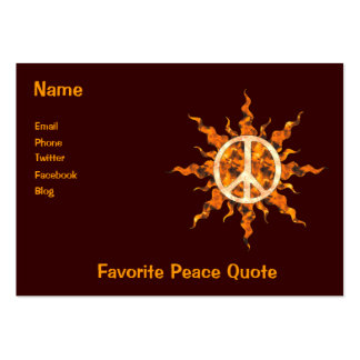 Peace Flame Spiral Large Business Card