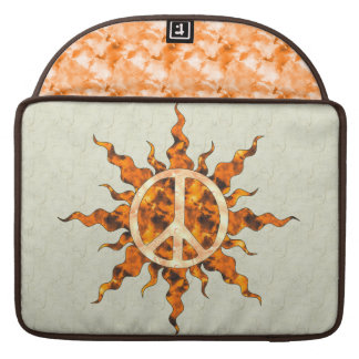 Peace Flame Spiral Sleeves For MacBooks