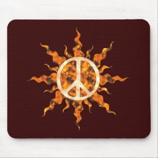 Peace Flame Spiral Mouse Pad