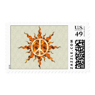 Peace Flame Spiral Postage