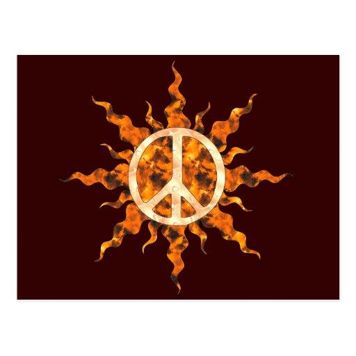 Peace Flame Spiral Postcard