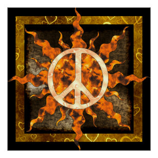 Peace Flame Spiral Poster