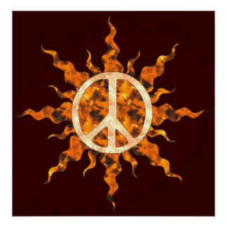 Peace Flame Spiral Posters