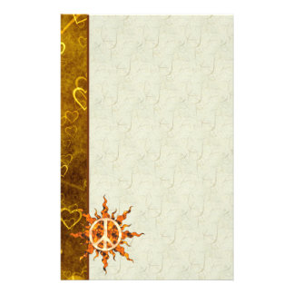 Peace Flame Spiral Stationery