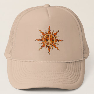 Peace Flame Spiral Trucker Hat