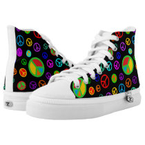 PEACE - Flat pattern multicolored   your backgr. High-Top Sneakers